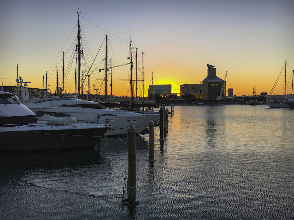 Viaduct Harbour Sunset - Street Photography - Auckland